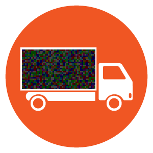Mobile Outdoor Media Advertising Icons - Digital Truck Billboard Circle